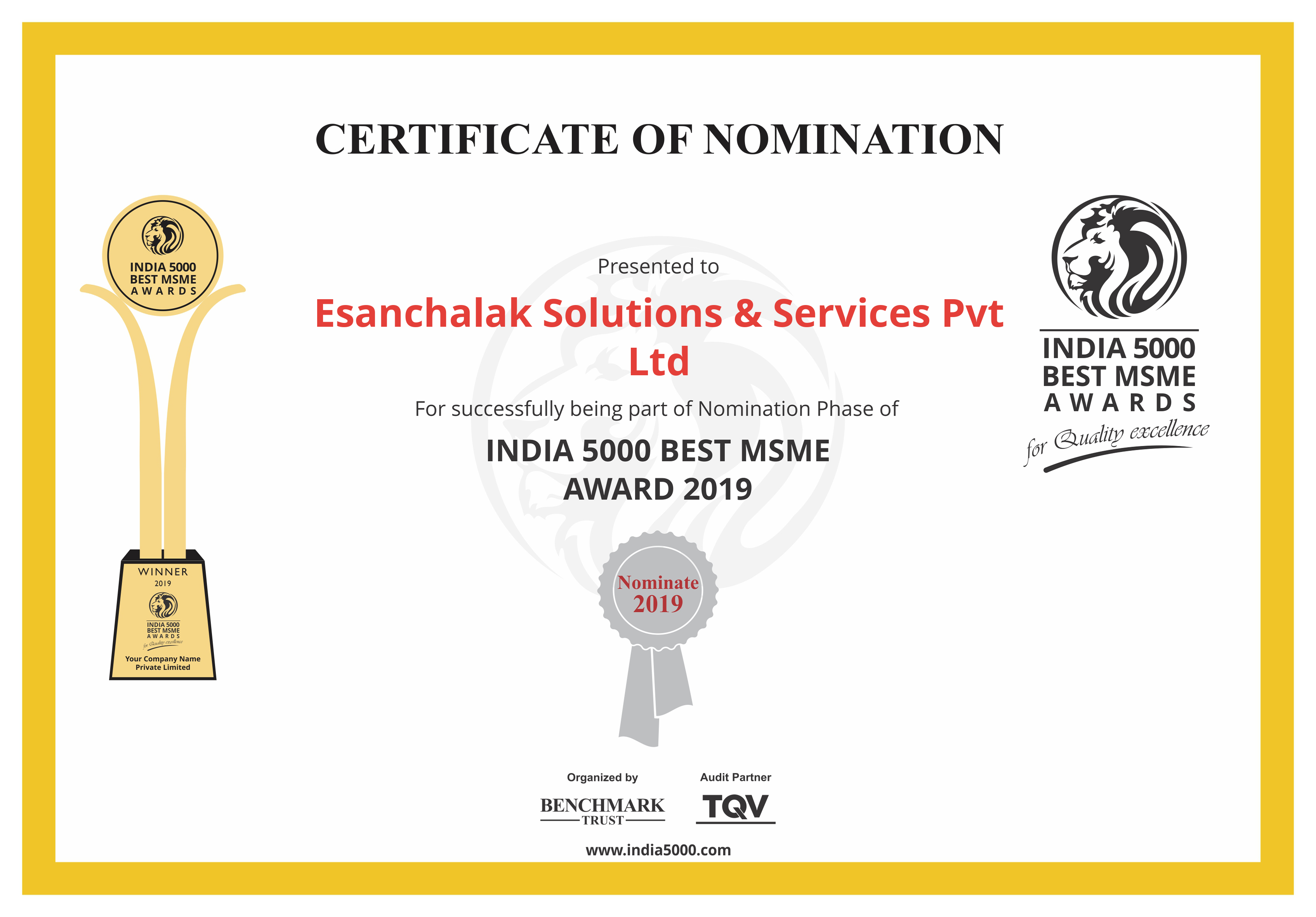 India5000_Nomination_Certificate